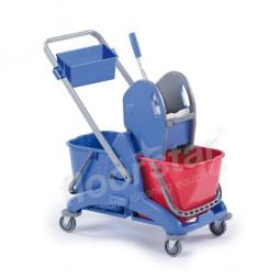 Doppelfahrwagen - Kunststoff mit Deichsel und Deichselwanne