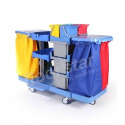 Moppbox-Wagen 3 - Kunststoff (ohne Säcke)