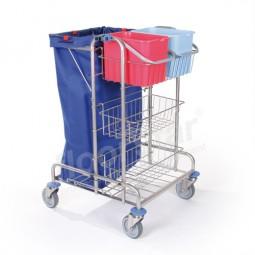 Putzwagen 1 - Edelstahl (ohne Sack)