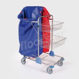 Putzwagen 2 - Edelstahl (ohne Säcke)