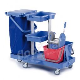 Reinigungswagen 1 - Kunststoff (ohne Sack)